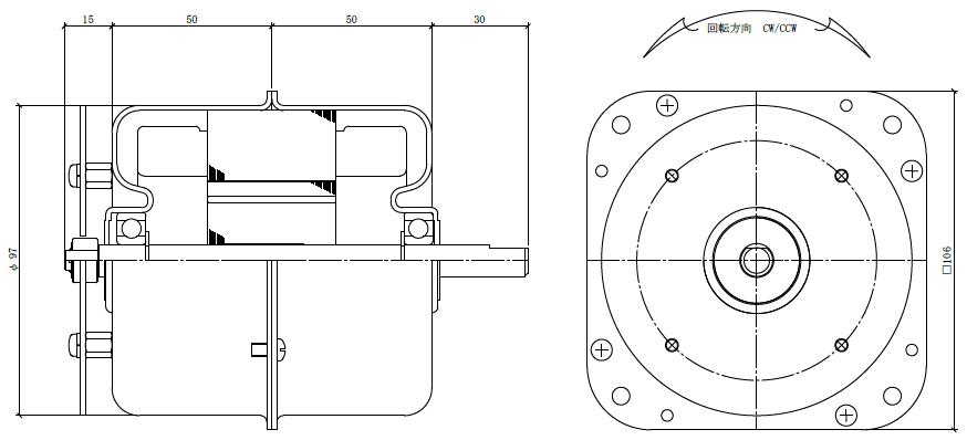 φ94-IPM 高速タイプ|外形寸法図