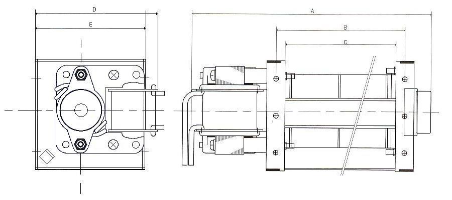 クロスフローファン|クロスフローファン|外形寸法図