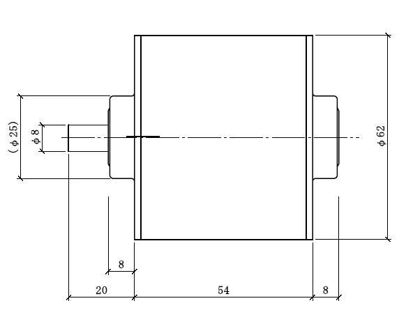 DCブラシレスモータ|DRH|外形寸法図