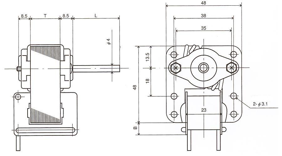 隈取モータ|NE|外形寸法図