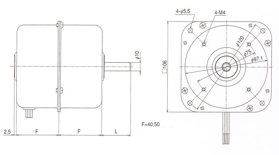3相インダクションモータ MK 外形寸法図
