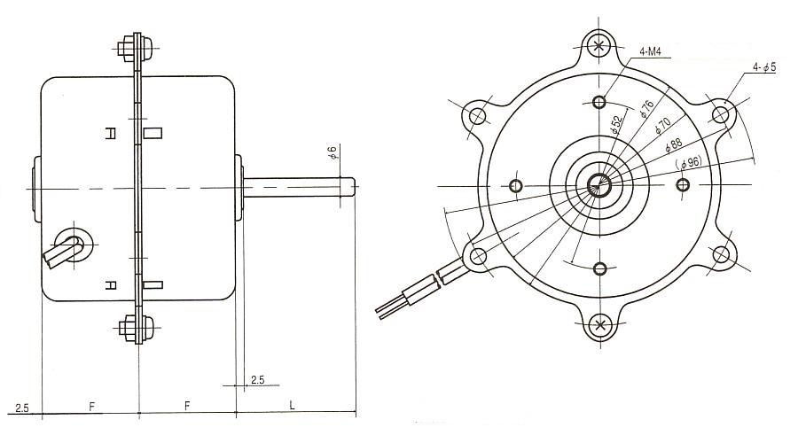 隈取モータ|GK|外形寸法図
