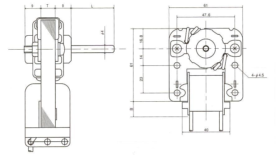 隈取モータ|LV|外形寸法図